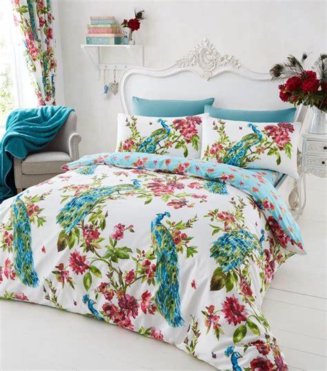floral bed set plume peacock printed complete duvet set floral bedding