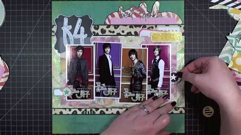 scrapbooking layout youtube scrapbook layout boys over flowers 12 quot x12 quot youtube