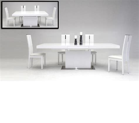 Extendable Dining Room Tables Modern Dreamfurniture Zenith Modern White Extendable