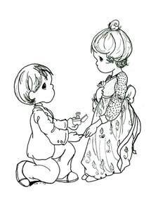 free precious moments wedding coloring pages kids 5092 precious moments wedding coloring