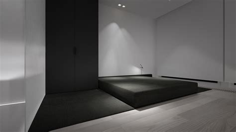 minimal room stark sharp minimalistic interiors by oporski architektura
