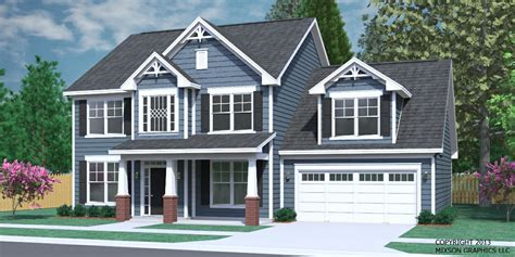 Traditional Two Story House Plans Southern Heritage Home Designs House Plan 2304 A The Carver A
