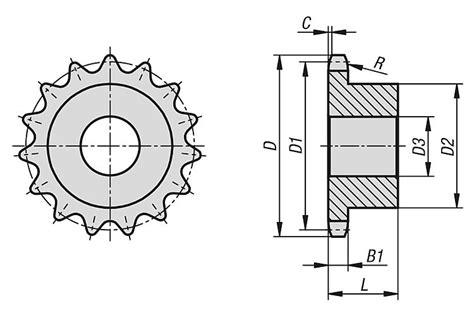 seleccion de cadenas y sprockets norelem pi 241 ones simples 1 2 x 5 16 de acero inoxidable