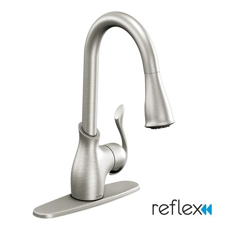 Moen Boutique Kitchen Faucet | moen boutique 174 1 handle reflex 174 pulldown kitchen faucet spot resist 174 stainless finish the