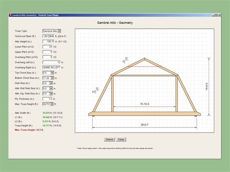 medeek design inc gambrel roof study development and updates for the medeek truss plugin