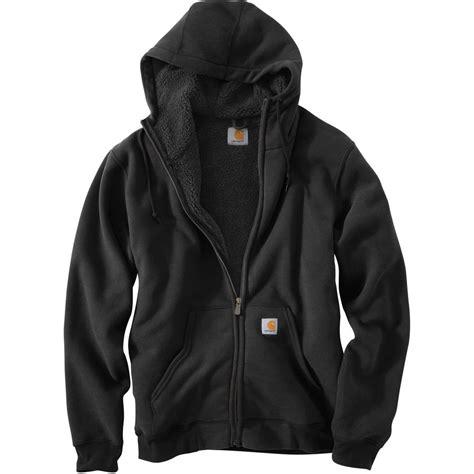 Fleece Lined Zip Hoodie carhartt collinston brushed fleece sherpa lined zip