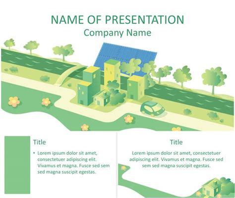 Solar Energy Illustration Powerpoint Template Art Renewable Energy Ppt Template Free