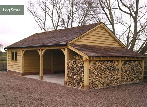 Storing Firewood In Garage by Garage Log Store Garden Gardens Wood