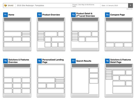 wireframe templates visual studio product site strategy on behance