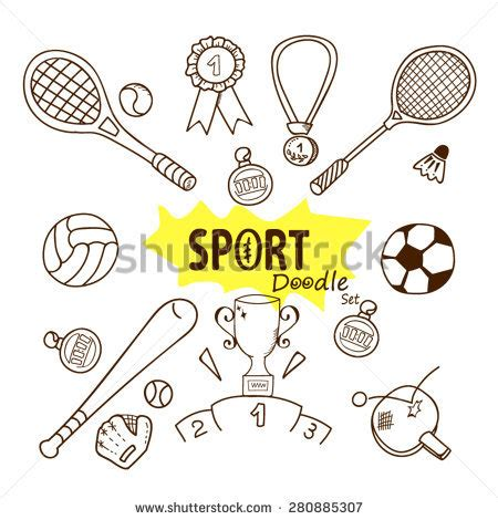 doodle sports free vector badminton vector stock photos images pictures