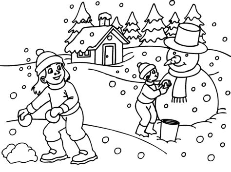 coloring page of winter season snow clipart coloring page pencil and in color snow