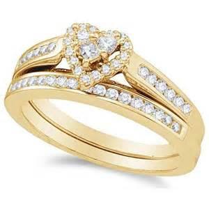 cheap bridal wedding ring sets affordable ring halo bridal set ring 1 carat