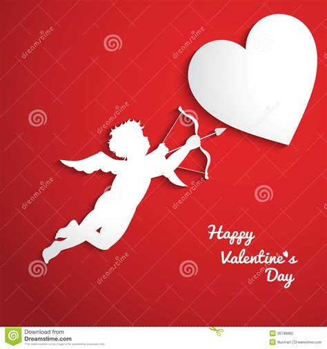 cupid valentines day valentines day background with cupid stock vector