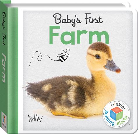 Hinkler Baby S Colours building blocks farm baby s padded board book babies toddlers 0 2 children hinkler