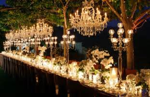 outdoor wedding chandelier outdoor wedding decorations chandeliers weddingelation