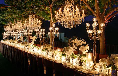 Chandelier Decorations For Wedding Outdoor Wedding Decorations Chandeliers Weddingelation