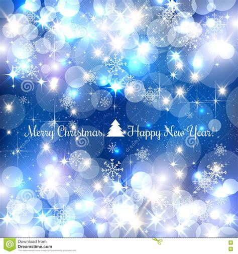 blue merry christmas background  silver snowflakes light stars vector illustration xmas