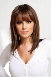 medium blunt hairstyles with bangs straight medium hairstyles with blunt bangs easy