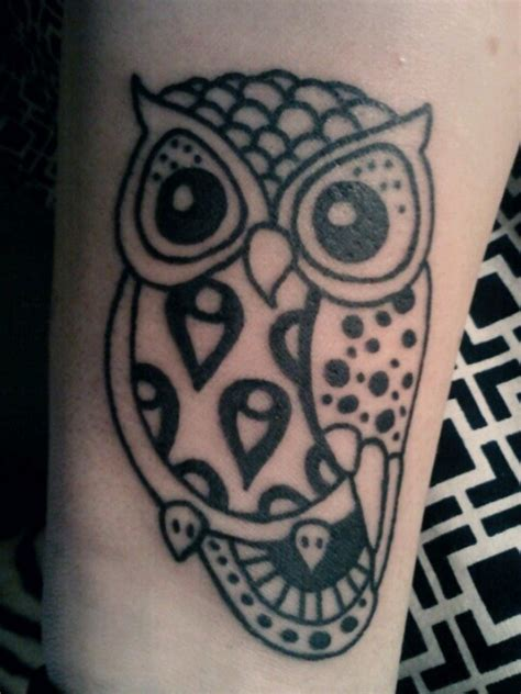 owl tribal tattoo 36 attractive owl wrist tattoos design