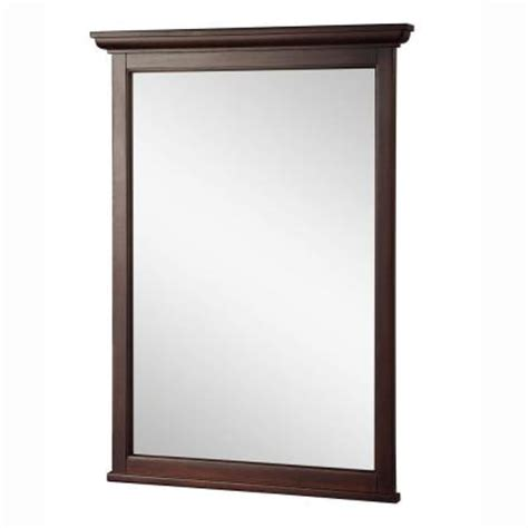 Bathroom Mirrors Home Depot Foremost Ashburn 31 In L X 24 In W Wall Mirror In Mahogany Asgm2431 The Home Depot