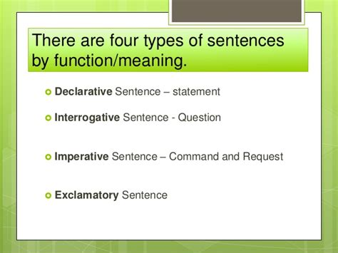 sentence types  function