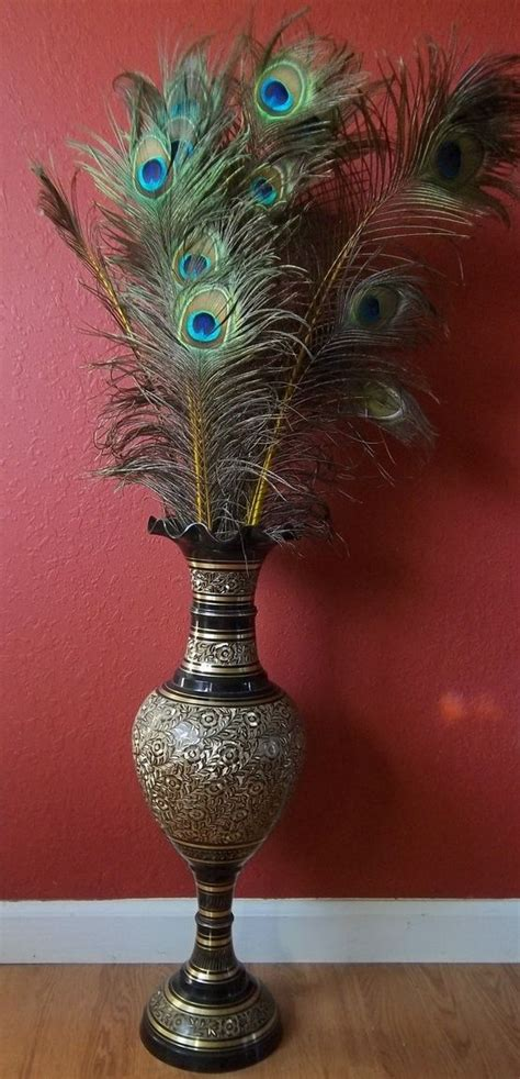 Feathers For Vases by Peacock Feathers In Vase Wedding Planner In The