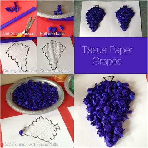 How To Make Paper Grapes - cheap and easy grape craft which we are doing in advance
