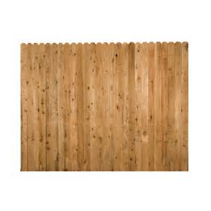 shop wood fencing 6 x 8 rustic dog ear fence panel at lowes com