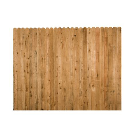 puppy fence panels shop wood fencing 6 x 8 rustic ear fence panel at lowes
