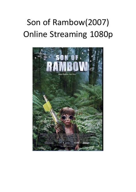 Son Of Rambow 2007 Film Son Of Rambow 2007 Online Streaming 1080p Best Comedy
