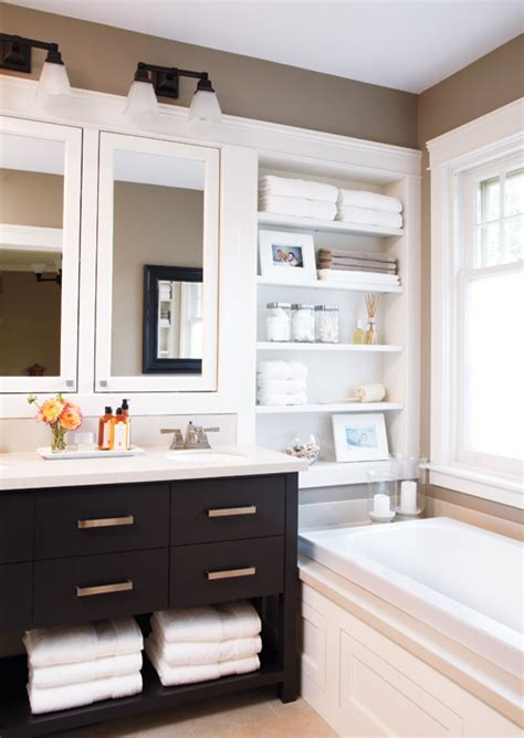 Built In Shelves In Bathroom Built In Bathroom Shelves Design Ideas