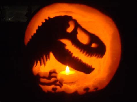 free printable pumpkin carving stencils jurassic park jurassic park t rex jack o lantern by pappasaurus on