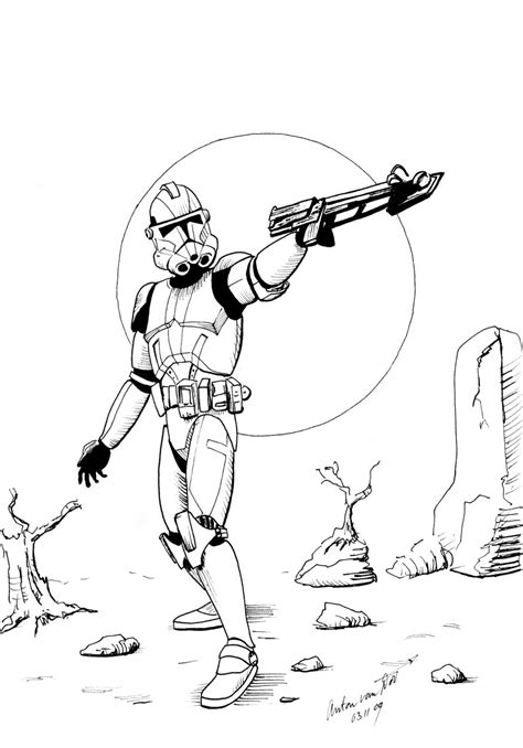 coloring pages wars clone trooper clone trooper coloring page by antonvandort on deviantart