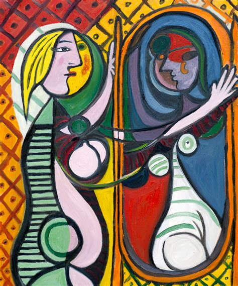 picasso paintings in mirror picasso s before a mirror