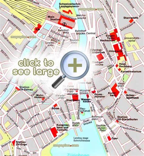 printable map zurich zurich maps top tourist attractions free printable
