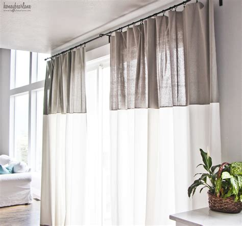2 tone curtains 2 tone curtains livelovediy diy no sew two toned