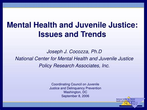 chapter issues and trends in psychiatric mental health ppt mental health and juvenile justice issues and