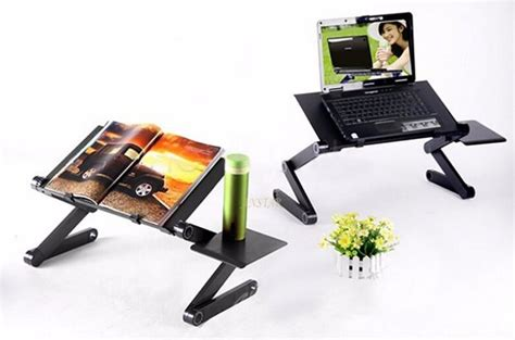 Multifunctional Aluminium Alloy Portable Laptop Table Mouse Desk Fan multifunctional large folding laptop table notebook stand