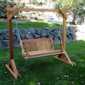 Wooden Patio Swing Kit Wood Country Cabbage Hill Two Person Hanging Cedar Swing
