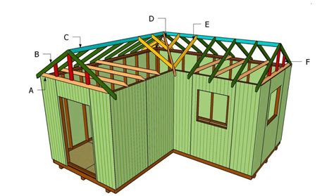 how to build a l how to build an l shaped roof shed storage