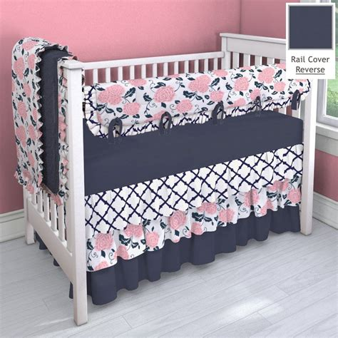 coral nursery bedding sets navy and coral pink 3 tier nursery idea customizable crib bedding set carousel designs