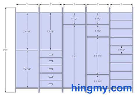 Closet Design Measurements by Designing A Built In Closet