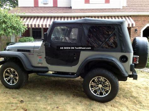 raised jeep jeep wrangler 2000 low millage raised 33 tires top