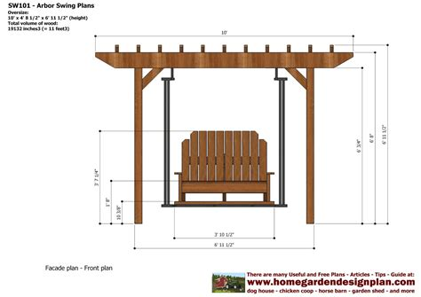 free pergola swing plans home garden plans sw101 arbor swing plans construction