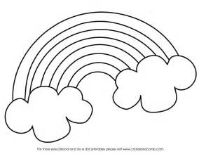 rainbow coloring sheet coloring pages of rainbows coloring home