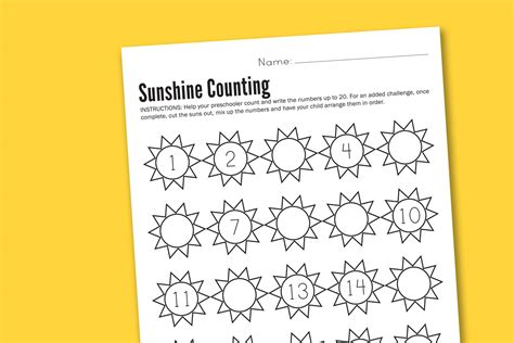 free printable preschool counting worksheets it s a sunshiny worksheet wednesday paging supermom