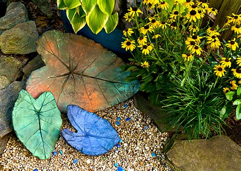 garten sachen concrete leaves garden muse