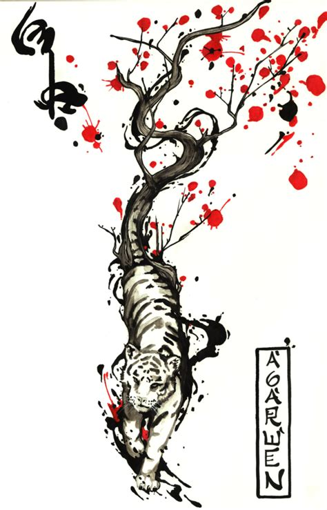 tiger with flowers tattoo designs tiger images designs