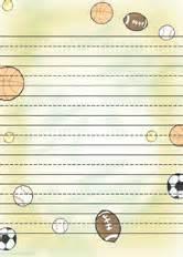 Football Writing Paper Printable Kids Writing Paper Free Writing Paper Free