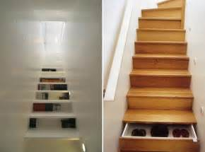 cool stairs storage ideas furnish burnish
